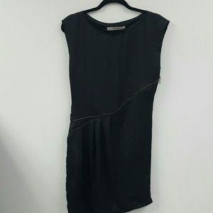 Women's Size M Black Zara Basic Zipper Dress